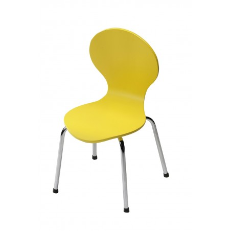 Kids Danish Yellow Chair by Dan-Form