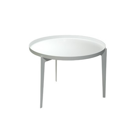 Covo Large Illusion White Metal Coffee Table