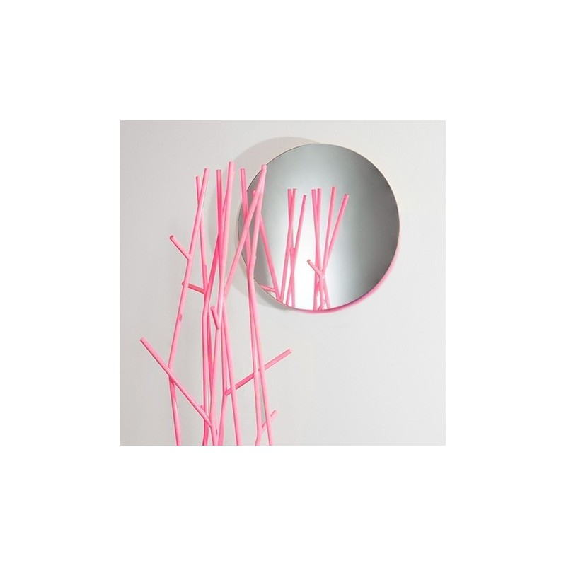 Covo Fluorescent Moonlight Mirror Ø 45 - Pink