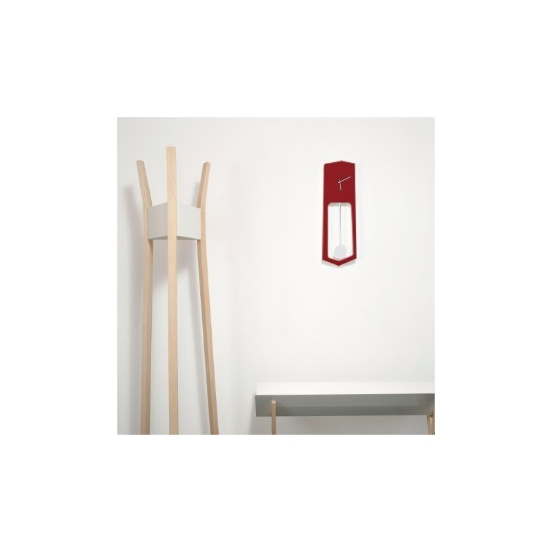 Covo Aika Designer Wall Clock - Red
