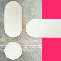 Covo Fluorescent Moonlight Mirror - Pink