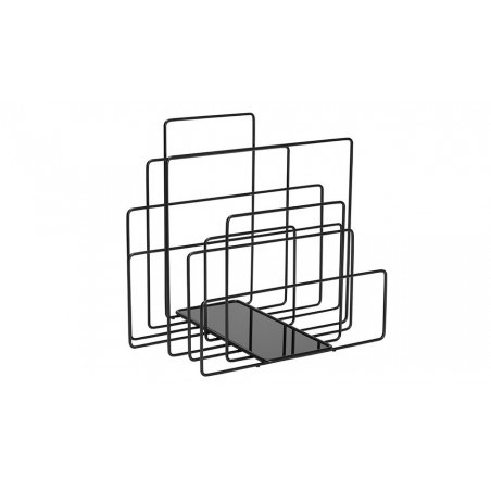 Covo Random Magazine Rack - Black Steel