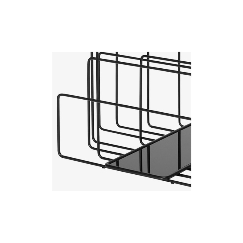 Covo Random Magazine Rack - Black Steel