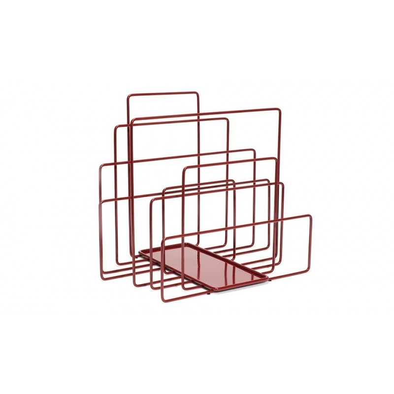 Covo Random Magazine Rack - Red Steel