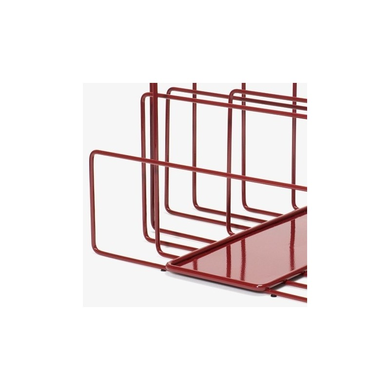 Covo Random Magazine Rack - Red Steel