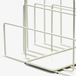 Covo Random Magazine Rack - White Steel