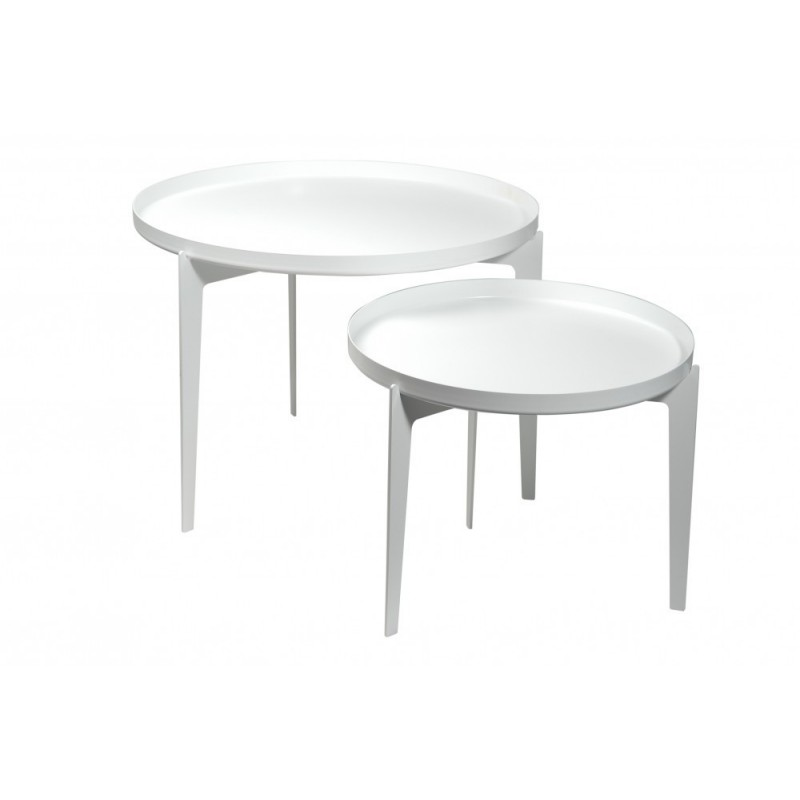 Covo Small Illusion Coffee Table - White Steel