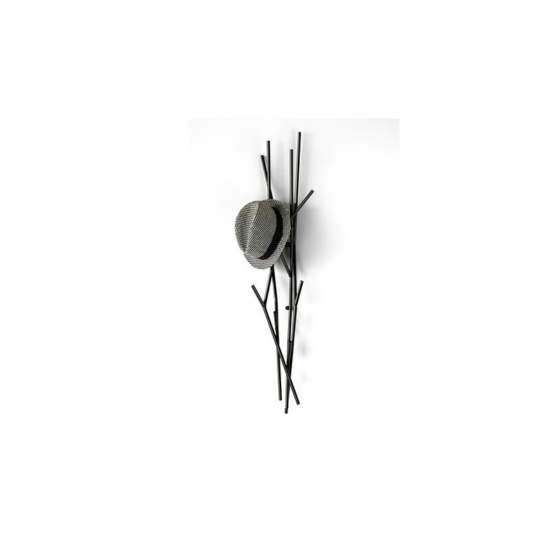 Covo Small Contemporary Coat Stand - Black Steel