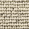Massimo Handwoven Bubbles Cream Wool Rug | 3 Sizes