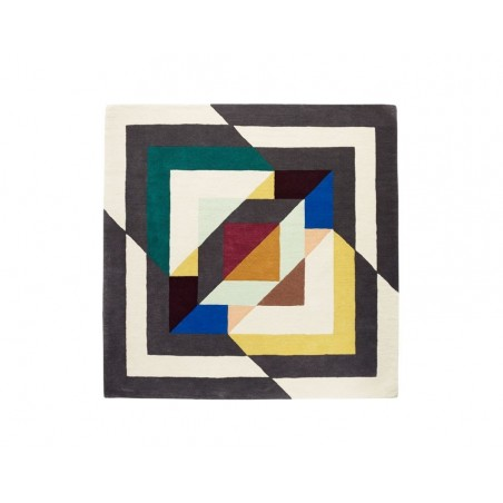 Massimo Lopez Rosa Art Deco Wool Rug (3 Sizes)