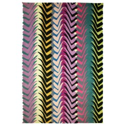 CanCan Rug by Margo Selby with Scallop Edge