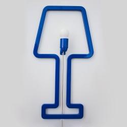 Colored Shape Italian Wall Lamp - Blue