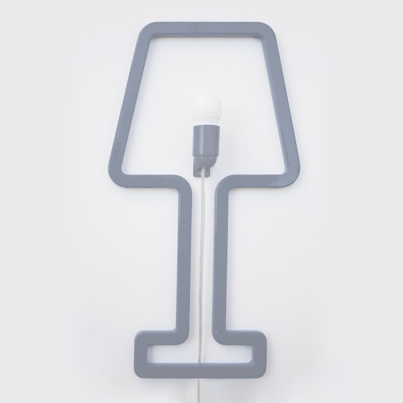 Colored SHAPE Wall Lamp - Grey