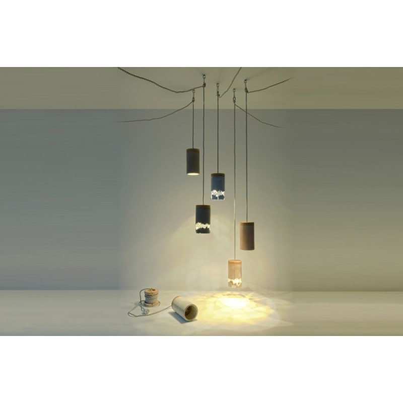 Ubikubi Slash Concrete Hanging Lamp -Red