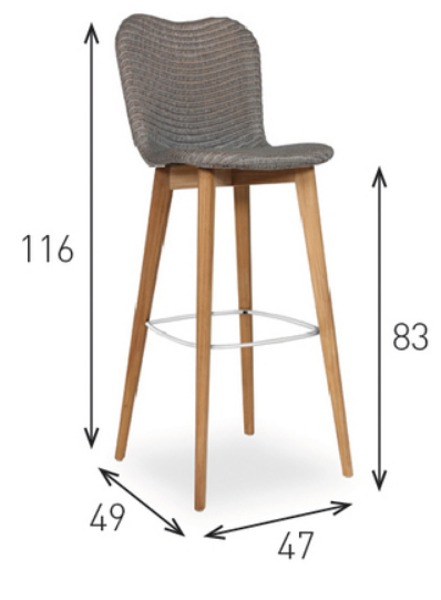 Lily Bar Stool Dimensions